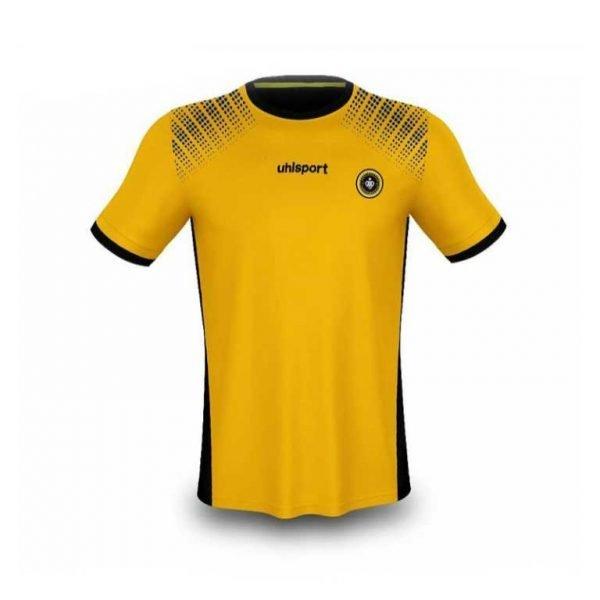 پیراهن و شورت زرد طرح آلشپرت